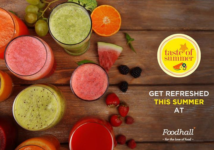 Taste the  magic of summer at Foodhall!  Beat the heat with loads of fruit, fresh vegetables. refreshing drinks and sweet delights.