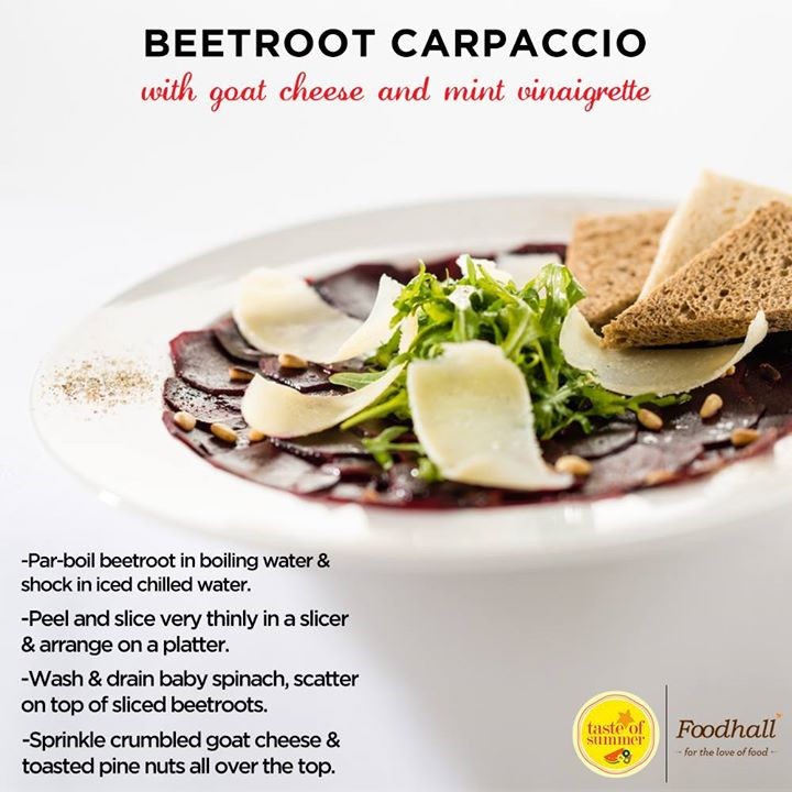 Impressive yet effortless, Beetroot Carpaccio gives you the perfect refreshing and sweet taste this summer.  Bring in the #TasteOfSummer with this quick and easy recipe.
