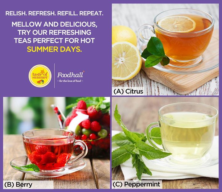 If you're looking for the perfect thirst quencher this season, we've got you covered! Try our range of light, summer teas infused with  citrus, berries, peppermint and a variety of other flavours at our stores today.  Tell us about your preference in the comments below