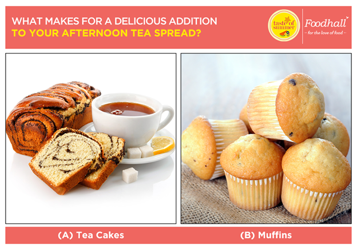 Plan the perfect afternoon tea with gorgeous tea cakes and classic muffins that make for the perfect centerpiece. Comment below with your preference