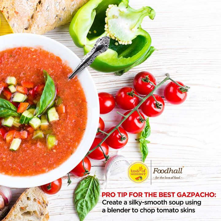 Ditch your food processor for a blender to create the perfect texture for Gazpacho.  Whip up a refreshing summertime Gazpacho with the Diamond Blender by Kitchen Aid available at our stores