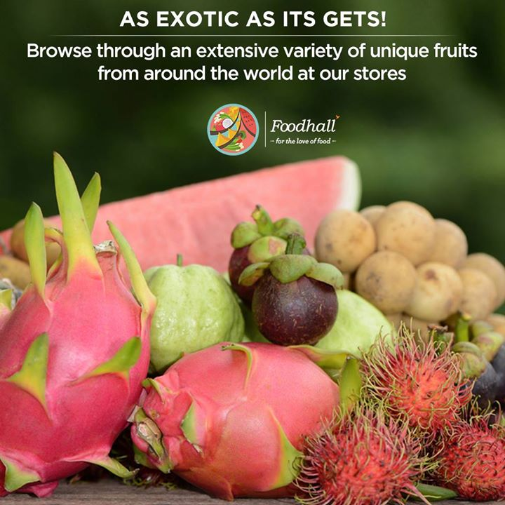 Celebrate exotic in its truest sense at Foodhall with our exclusive variety of fruits from around the world.  Select from a range of unique fruits like Pomello, Mangosteen Rambuttan, Logan, Dragon Fruits, Raw papayas and Jack fruits.