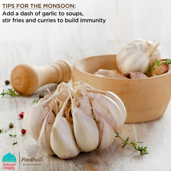 #HealthyTip  Add just the right aroma, taste and nutrition to your meal with garlic. A hint of garlic will not only enhance the flavours of your meal but also help you stay healthy this monsoon.