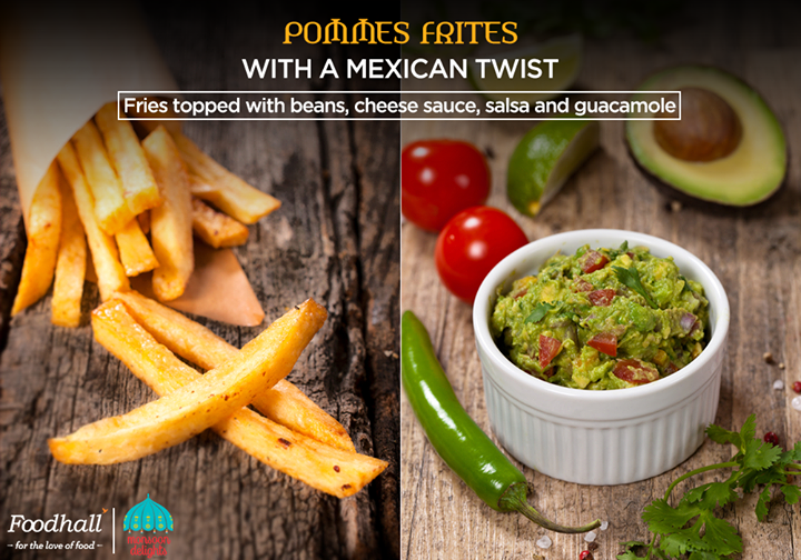 Soft on the inside and crispy on the outside, come and try crispy french fries enhanced with a burst of Mexican flavours.  Check out our exclusive pommes frites bar at Foodhall Today!
