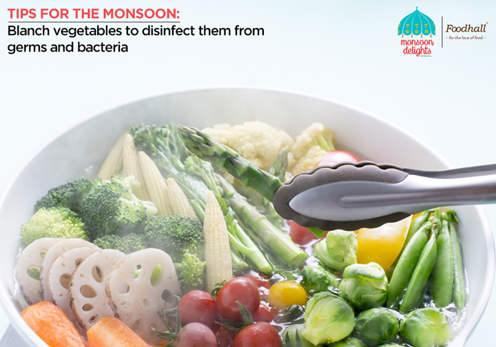 Blanching is a quick way to cook vegetables while preserving the colour, texture and flavour of vegetables.  Stay healthy this monsoon with this handy technique, blanch small batches of vegetables prior to refrigeration.