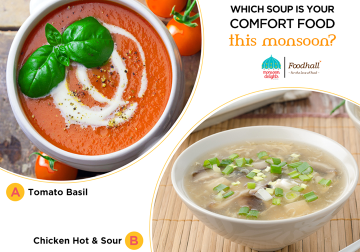 Nothing better than a bowl of warm, flavourful soup for the monsoon! Tangy tomato soup or hearty and flavourful hot and sour soup, tell us which one would you pick?  Relish the flavours of healthy, delectable soups at Foodhall @ Phoenix Marketcity - Pune (Official)