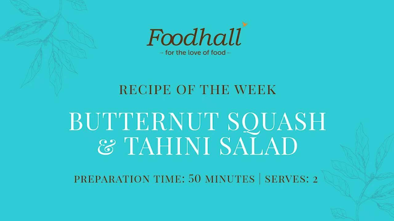 #RecipeofTheWeek  We're kicking off this month's Middle Eastern theme with a Butternut and Tahini Salad featuring the exotic flavours of Arabic cuisine!   Served in a hollowed-out, baked butternut squash, this salad features zingy Za'atar, bringing a burst of fireworks to your plate and palate!  Of course, the starring factor is Foodhall's freshly made #Tahini, balancing nuttiness with a drizzle of creamy, Greek Yogurt.  #ForTheLoveofTahini #FoodhallIndia #Recipeshare #RecipeInspiration #QuickRecipes   #MiddleEasternMonth #Zaatar #RecipeVideos #CookingHealthy #TastyRecipes #ButternutSquash #ComfortFood