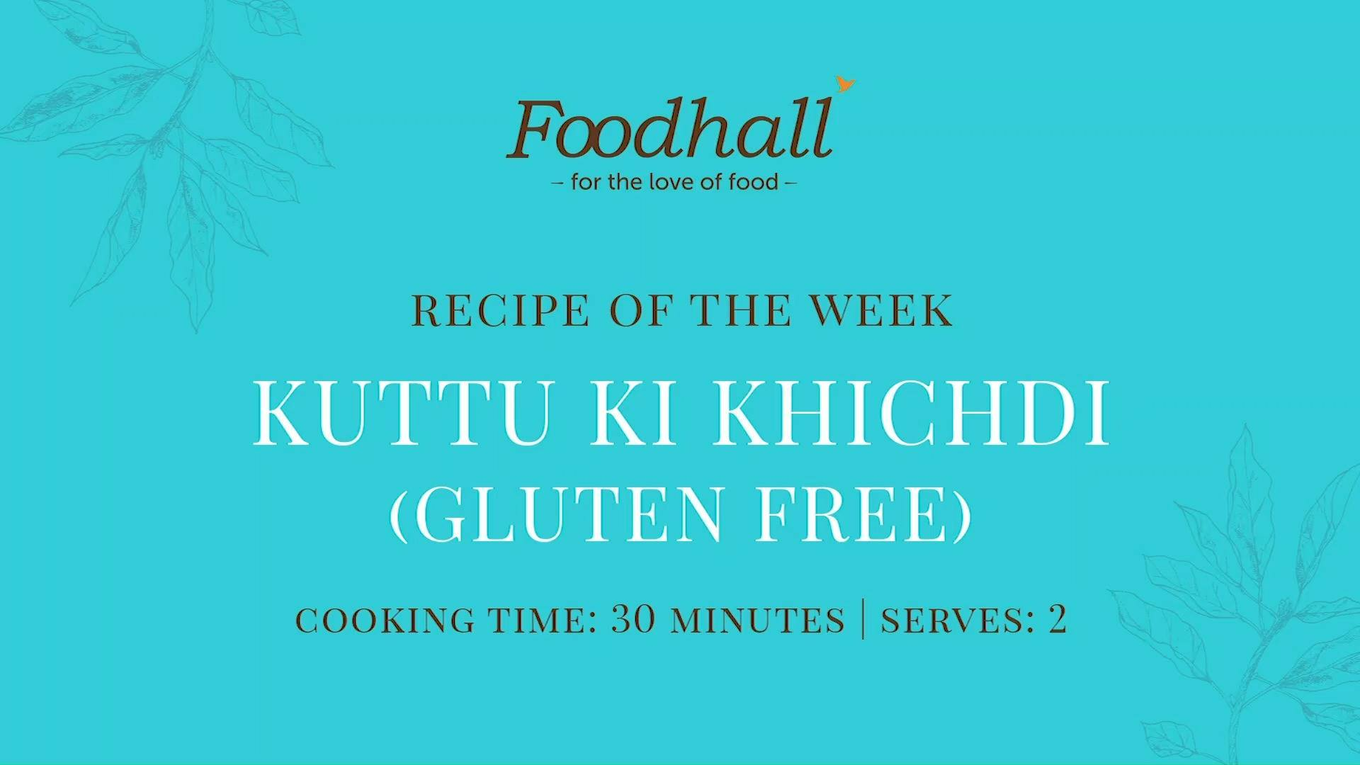 #RecipeoftheWeek: Kuttu Ki Khichdi!  Our recipe this week is a #Navtrati special featuring buckwheat khichdi! Rich in protein and fibre, the superfood #buckwheat is a great gluten-free option for those fasting during the navrati season. To balance the hearty warmth of the buckwheat, serve this dish with a cooling bowl of yogurt for a deliciously wholesome meal!  #ForTheLoveofFood #FoodhallIndia #NavratriFasting #Buckwheat #KuttukiKhicdhi #RecipeShare #Superfoods #GlutenFree #HealthyLiving