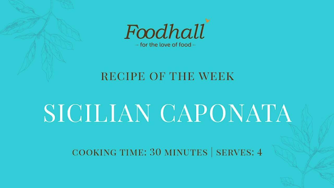#RecipeoftheWeek: Sicilian Caponata  This week's recipe celebrates the rich and piquant flavours of eggplant, manifesting in a nourishing dish that is complemented by vibrant veggies and aromatic herbs. We recommend pairing it with our freshly-baked Italian breads to add a rustic texture to your autumnal supper!  #ForTheLoveofCooking #FoodhallIndia #ROTW #SicilianCaponata #ItalianCooking #ItalianCuisine #ItalianRecipes #Caponata #SicilianFood