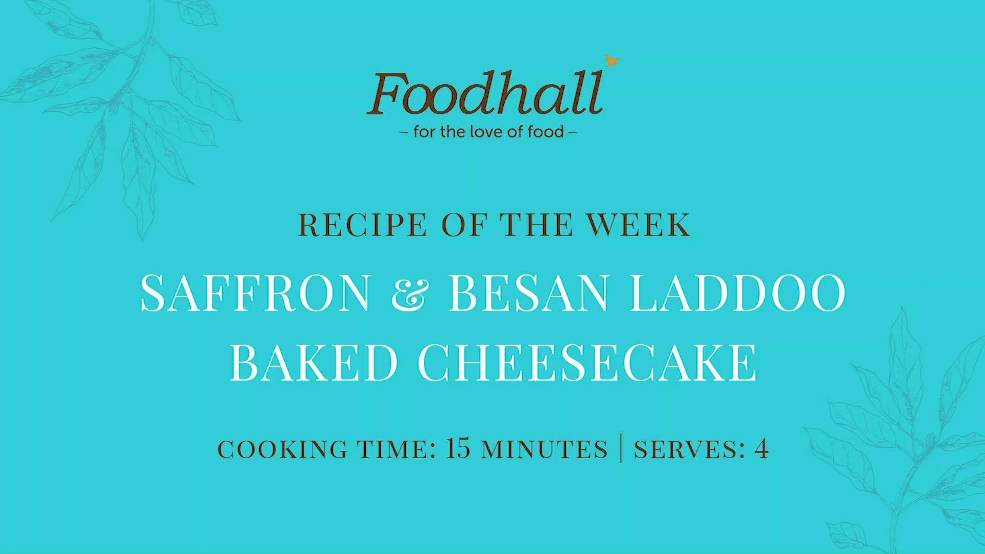 #RecipeoftheWeek: Saffron & Besan Laddoo Baked Cheesecake  We're embracing the spirit of the season by adding a modern twist to the quintessential Indian sweet, #laddoos! Perfect for wowing your guests at your next soirée, this delicious dessert strikes a creative harmony between two of our all-time favourite treats. Do tag us in your pictures if you try it at home!  #ForTheLoveofDesserts #LaddooCheesecake #FoodhallIndia #DessertTime #CheesecakeRecipe #IndianDesserts #RecipeShare