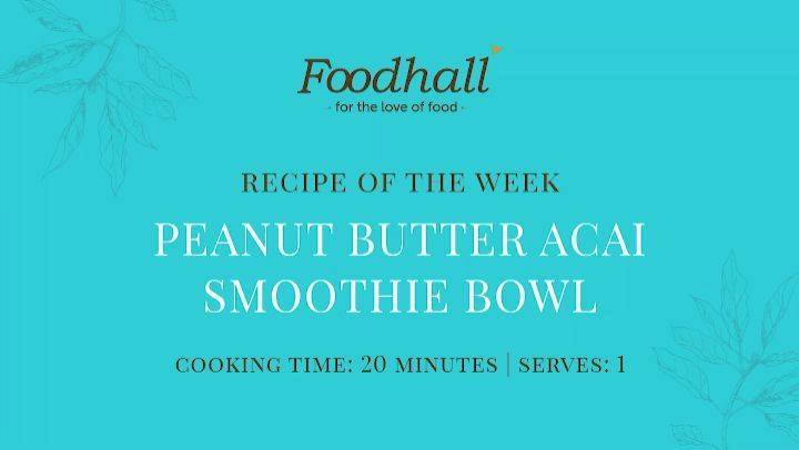 #RecipeoftheWeek: Peanut Butter & Acai Smoothie Bowl!  Because, the only thing better than an #acai smoothie bowl, is one loaded with the creamy nuttiness of peanut butter! One of our favourite smoothie bowl recipes, it makes for a nutritionally power-packed breakfast loaded with all the goodness (anti-oxidants, fibre and healthy heart fats) of the Brazilian super-fruit, acai berries!  #FoodhallIndia #ForTheLoveofBreakfast #SmoothieBowl #AcaiSmoothieBowl #SmoothieBowlRecipes #PeanutButter #AcaiBerry #HealthyEating #BreakfastTime #BreakfastRecipes