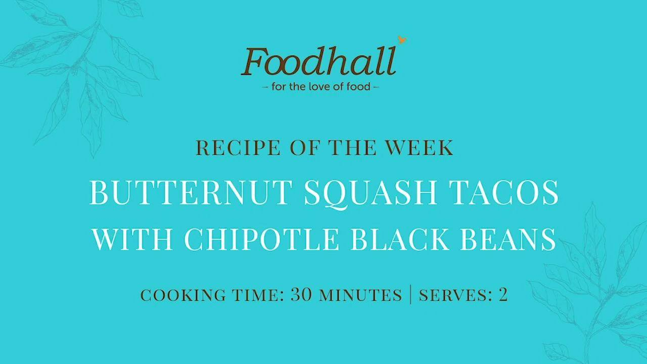 #RecipeoftheWeek : Roasted Butternut Squash Tacos with Chipotle Black Bean!  This week's recipe features an autumnal twist on classic tacos! Quick, easy-to-make and oh-so-delicious too – this dish makes for a nutritious weeknight supper, with an added kick of protein from the black beans!   #FoodhallIndia #ForTheLoveofFood #ButternutSquashTacos #VegetarianTacos #CookingWithFoodhall #EasyRecipes #ButternutSquash #TacoRecipes #TacoLovers