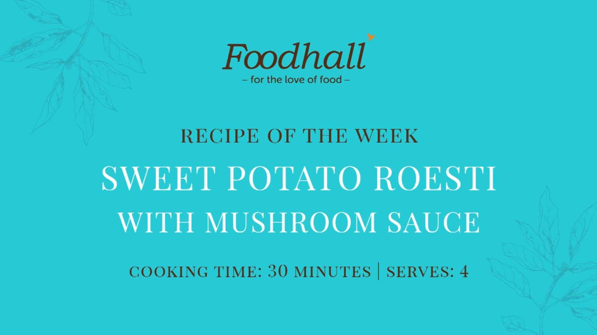 #RecipeoftheWeek: Sweet Potato Roesti with Mushroom Sauce. A comforting cross between potato pancakes and hash browns, made with sweet potato for an added health kick! We love topping our's off with a rich mushroom sauce, to add an earthy balance. It's a blissful snack or supper on a moody-monsoon evening!  #ForTheLoveofFood #Monsoons #SweetPotato #Roesti #SweetPotatoRoesti #ComfortFood #RecipeShare #EasyRecipe #FoodhallIndia