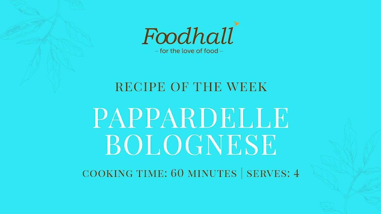 #RecipeoftheWeek: Pappardelle Bolognese!  This week's recipe is a deliciously hearty one, it's meatiness balanced by the flavour of onions, leeks, carrots, rosemary and fresh basil! Toss it well with pappardelle (broad, flat pasta noodles) for a comforting autumnal supper!  #ForTheLoveofFood #ForTheLoveofCooking #FoodhallIndia #RecipeShare #PappardelleBolognese #Pappardelle #PastaRecipes #PastaLovers