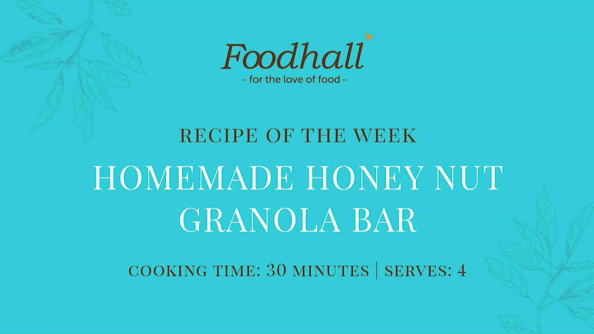 #RecipeoftheWeek: Homemade Honey Nut Granola Bar.  Perfect for healthy snacking on-the-go, these granola bars are loaded with crunchy flavor and wholesome goodness. We recommend always keeping a couple on hand for the next time your sugar cravings strike!  #FoodhallIndia #ForTheLoveofFood GranolaBar #HealthyRecipe #RecipeShare #HoneyNutGranolaBar #GranolaLovers #HealthyEating #HealthySnacking  Nourish Organics