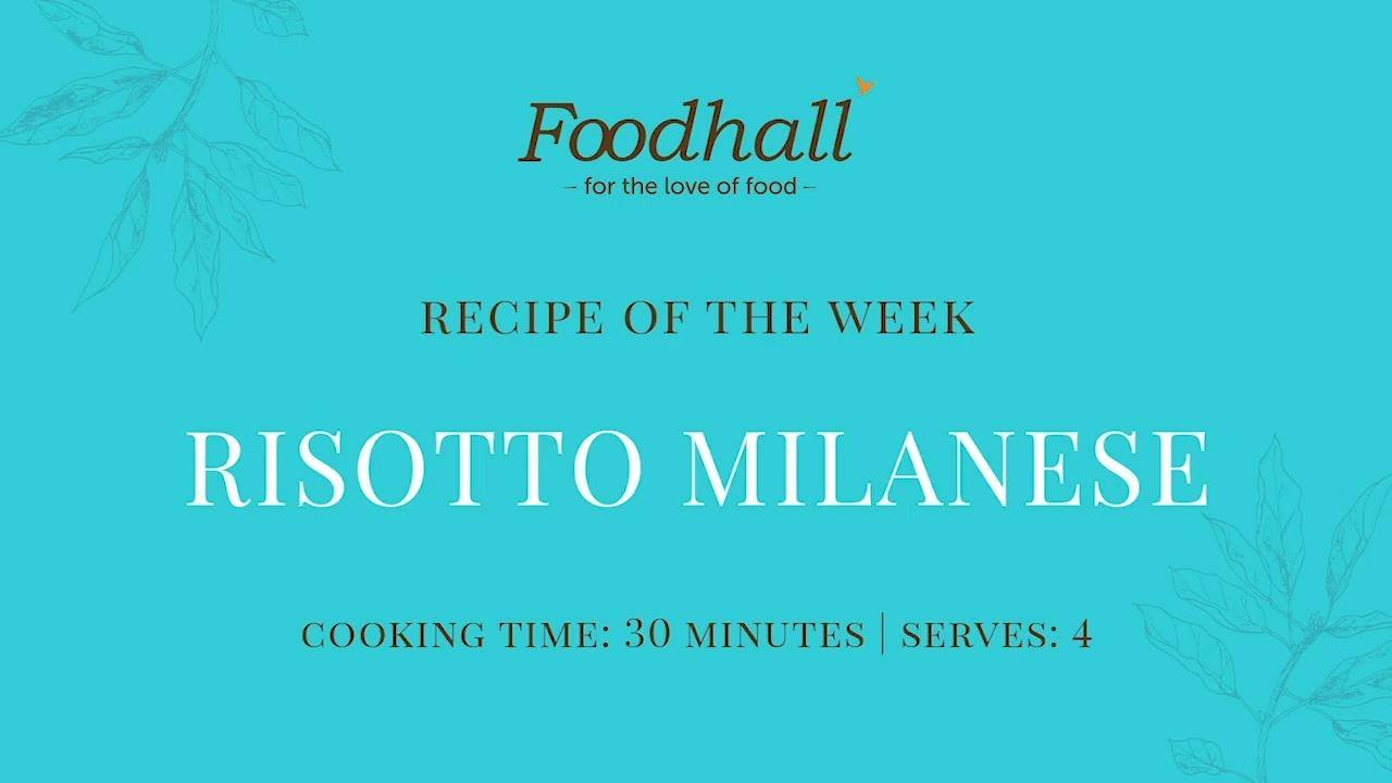 #RecipeoftheWeek: Risotto Milanese!  This week's recipe is a classic from Milan, dating back to the fifteenth century! The ingenious addition of saffron adds a vivacious colour and flavour to this silkily-rich dish, making for a showstopping main on your dining table!  #FoodhallIndia #ForTheLoveofFood #ForTheLoveofCooking #Risotto #MilaneseRisotto #SaffronRisotto #Saffron #RisottoRecipe #RecipeShare #ItalianRecipes #ItalianCooking