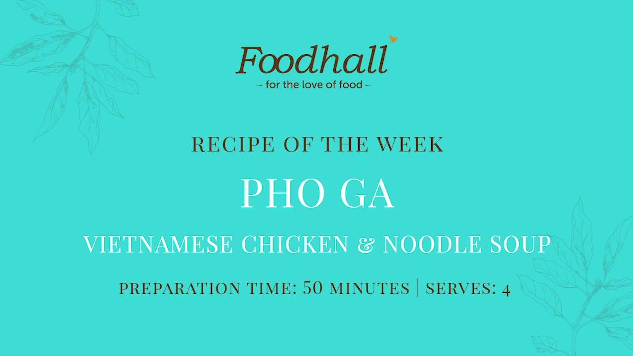 #RecipeoftheWeek - Pho Ga (Vietnamese Chicken & Noodle Soup)  Warm your belly with Pho Ga - a soul-stirring soup enriched with a herby broth and the homely comfort of pot noodles!  Perfect for tucking into on a cool winter's evening, this easy recipe is rather good pho you too!  #FoodhallIndia #PhoGa #VietnameseCuisine #WinterSoup #NoodleSoup #SoupRecipe #AsianCuisine #ComfortFood #RecipeShare #WinterRecipe #SoupRecipes #VietnameseRecipes