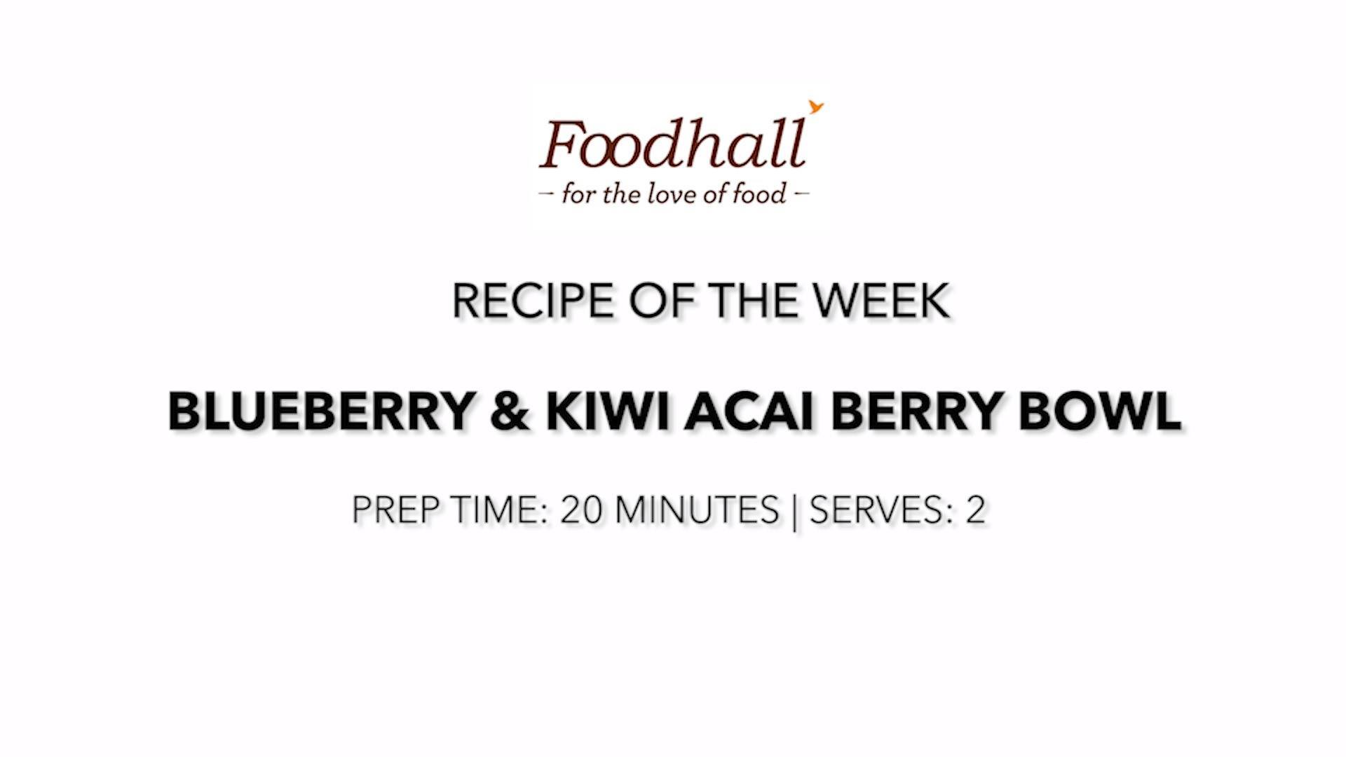 #RecipeoftheWeek: Blueberry & Kiwi Acai Berry Bowl!  Up your breakfast game with this luscious smoothie bowl, blitzed with the antioxidants, fiber and essential nutrients of the Brazilian superfood, #acaiberry! Its thick & creamy texture is perfect for scooping up, bringing a taste of the tropics to your table!  #ForTheLoveofFood #AcaiBowl #FoodhallIndia #BreakfastInspiration #RecipeShare #BreakfastRecipe #SmoothieBowl #AcaiBerry #SuperfoodSmoothie