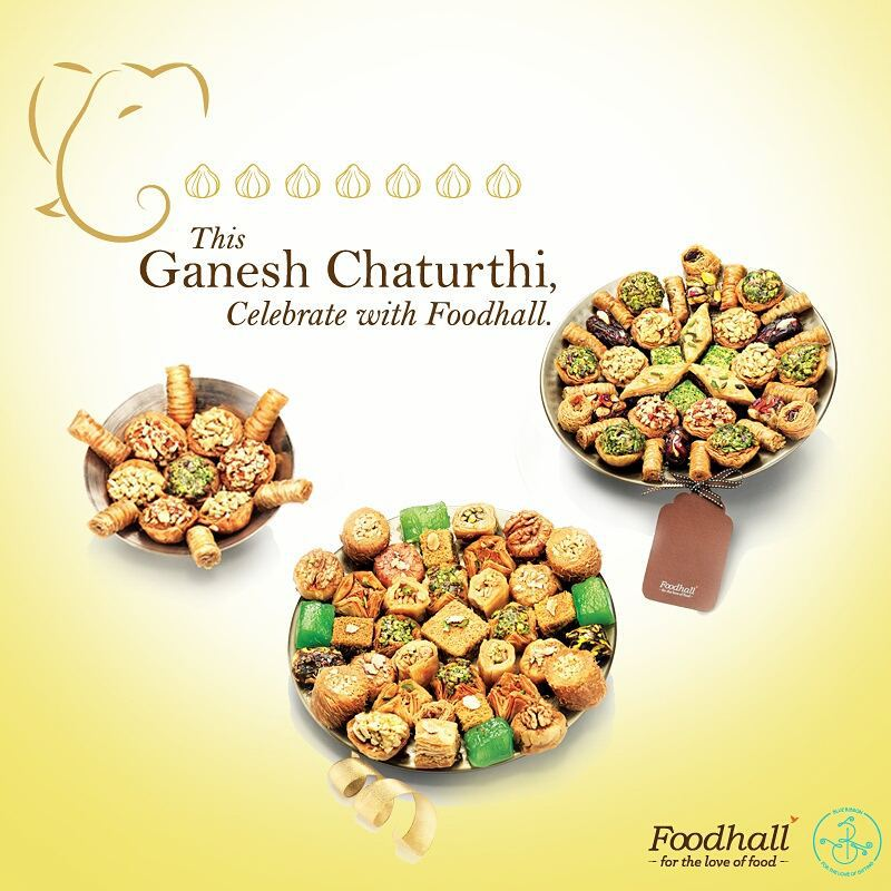 Welcome Lord Ganesh this year with some of the most carefully selected and assorted delicacies and flavours from around the world. View our new gifting collection atwww.facebook.com/FoodhallIndia  For queries contact us at +91 9833798920 orwrite-to-us@foodhallonline.com #FoodhallIndia #GaneshChaturthi #Sweets