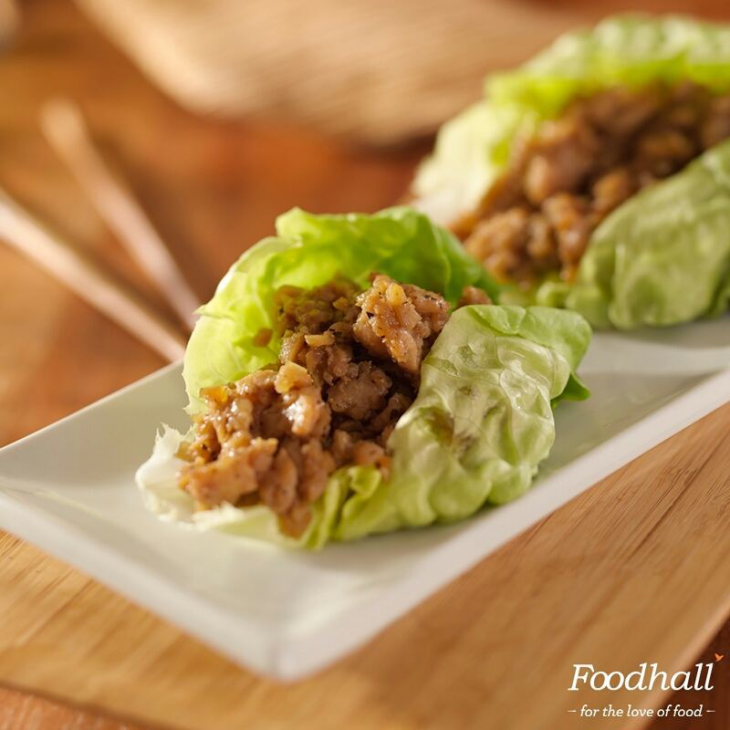 Lettuce wrap packed with minced tofu and carrots covered in creamy avocado paste makes a perfect vegan recipe for your guests!  #FoodhallIndia #Wraps #Vegan