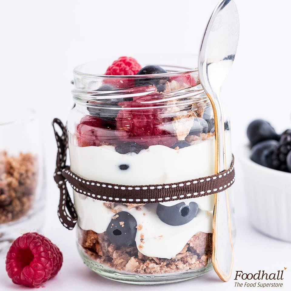 Layers and layers of delicious goodness! Pick this mixed berry yoghurt parfait, full of fresh berries, granola and yoghurt layered together for a perfect morning treat. #ForTheLoveOfFood #FoodhallIndia