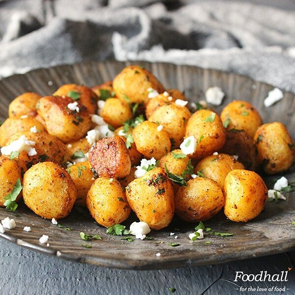 Humble potatoes get a makeover with feta and moreish spices in @amritaoflife's Batata Hara. Click on the link in our bio to get this recipe.  #ForTheLoveOfFood #FoodhallIndia