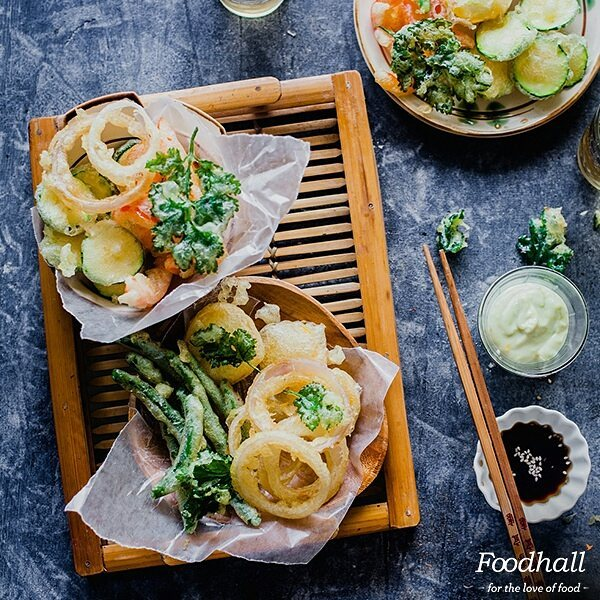 Move over, prawns! There's more to tempura than sea-food and even the simplest vegetables like zucchini, bell peppers, onions taste great when used in this traditional Japanese dish.  The secret is a light, crisp coating that doesn't absorb much oil when fried. Get it right each time using @playfulcooking's recipe. Find the link in our bio.  #ForTheLoveOfFood #FoodhallIndia