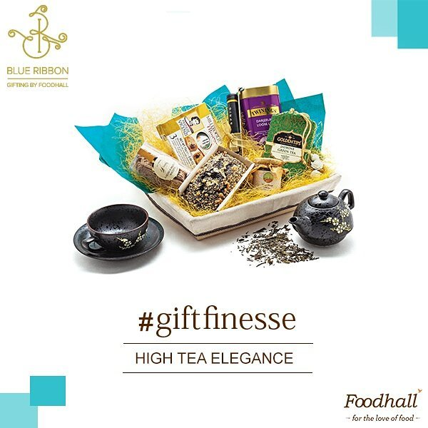Have a tea-loving friend or family member who likes brewing the perfect cuppa every single time? Show them some love with our 'High Tea Elegance' hamper.  Hit the link in our bio to shop our entire gifting collection.  #ForTheLoveOfFood #FoodhallIndia