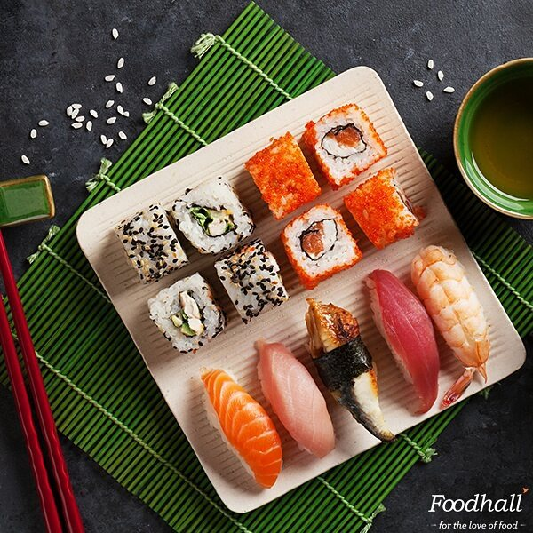 Nobody has to know it wasn't homemade.  Party Chef by Foodhall now lets you reserve exotic platters complete with a wide variety of authentic Japanese #sushi made to perfection. With ample vegetarian options too – we have something for everyone!  Call your nearest Foodhall & place an order today.