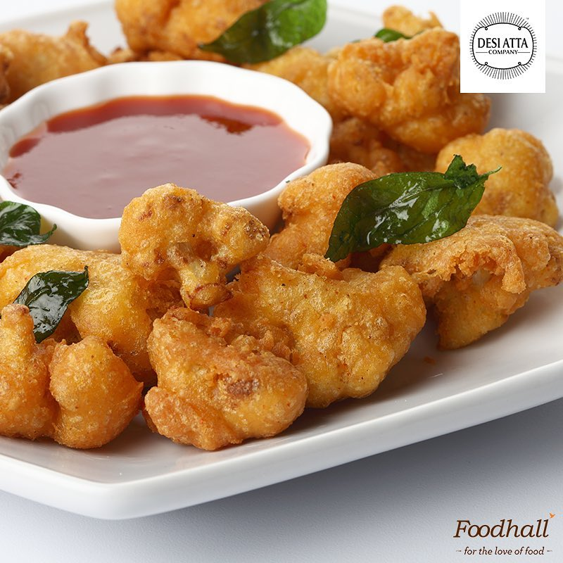 Knock Knock! Who's there? A whole lot of nostalgia & comfort!  Monsoons come hand-in-hand with the golden crunch of pakoras! We love using Besan & Mung Pakora mixes from @desiattacompany to add a flavourful lift to tea-time! . .  What is your favourite type of pakora?  #ForTheLoveOfFood #FoodhallIndia