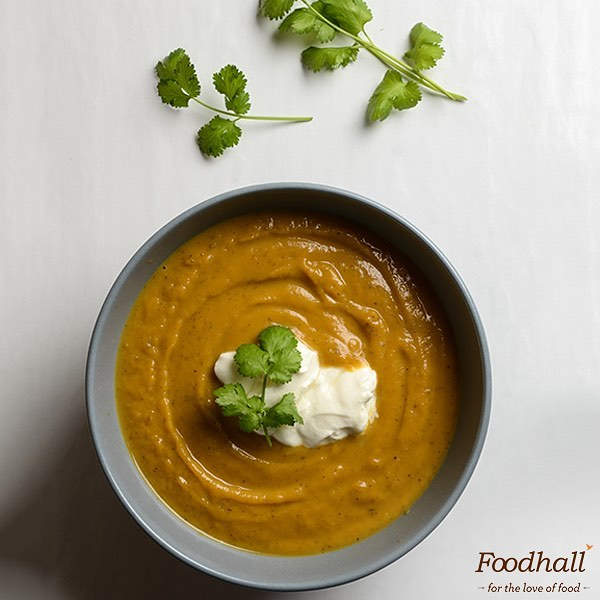 The weather has us reaching out for warm, feel-good food and what's better than a Sweet Potato Soup? It's a definite winner in our books 💯 Hit the link in our bio for the #recipe. . . What's your go-to #soup for the rains? Share your recipes with us in the comments below!  #ForTheLoveOfFood #FoodhallIndia