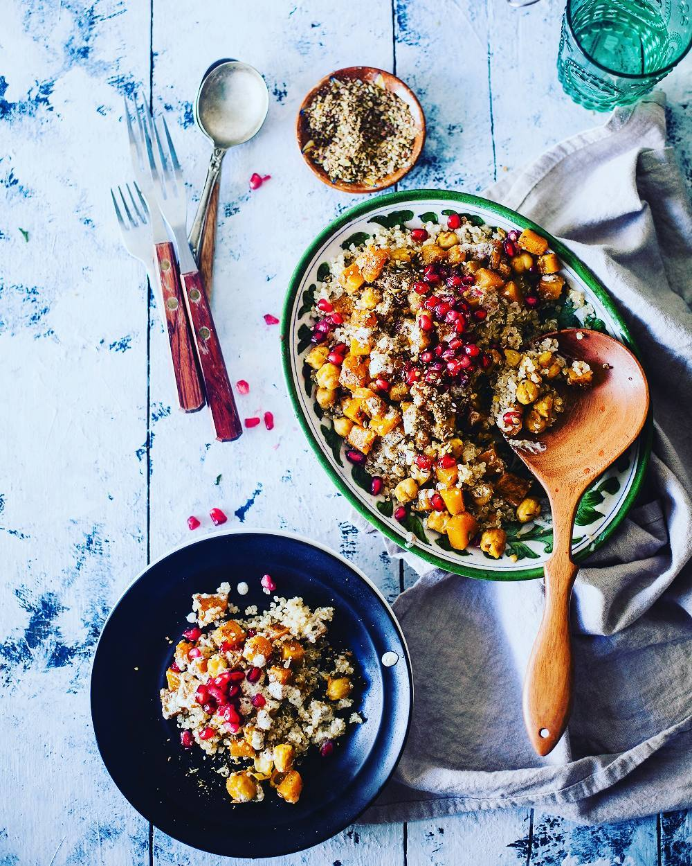 You need superfoods to help you power through #Navratri! 💪 Add to the power of the super-chickpea with pumpkin, dukkah spice, quinoa and more.  Stop by Foodhall to buy the makings of this warm salad.🍲 #Food #Salad #FoodhallIndia #ForTheLoveOfFood #Foodpic