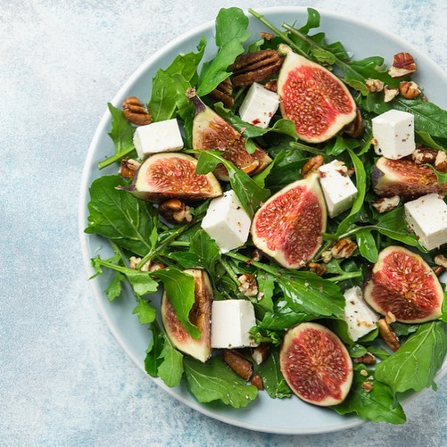 Healthy weekends // Head to our stories to discover the recipe for - Fig & mozzarella salad with honey! What's your favourite salad? Tell us in the comments below. #HealthyWeekends #Salads #FreshIngredients #Love #TryNow #RecipeOfTheWeek #BetterForYou #ForTheLoveOfFood #FoodhallIndia