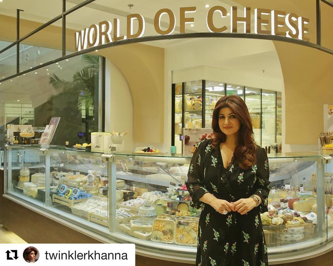 It was a pleasure to host Twinkle Khanna at our new store, Foodhall@Linking Road, and we can't wait to have her back.  #Repost @twinklerkhanna (@get_repost) ・・・ A cheesy girl at heart-This is my favourite bit at the new Foodhall store! Waiting to recover completely and go shopping on a quiet weekday morning:) @foodhallindia  #BandraGoesBlue  #ForTheLoveOfFood #FoodhallLinkingRoad