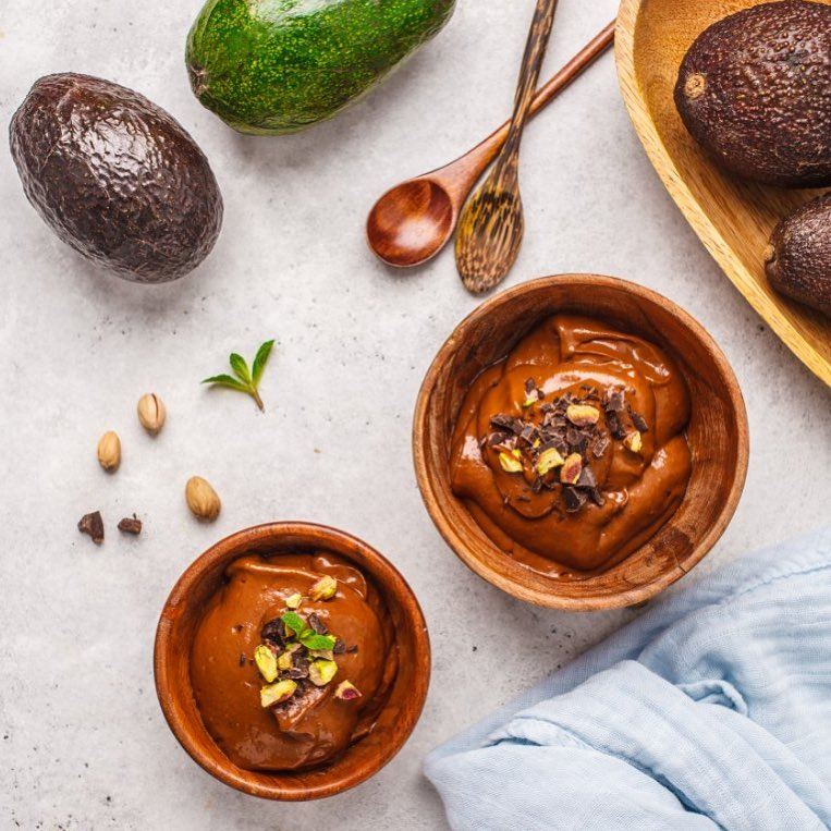 This delicious vegan avocado mousse is all therapy your monday needs! Watch our stories for the recipe  #FoodhallIndia #HealthyEating #RecipeOfTheWeek #AvocadoChocolateChiaPudding #Keto #Vegan #Recipe #ForTheLoveOfFood #FoodhallIndia