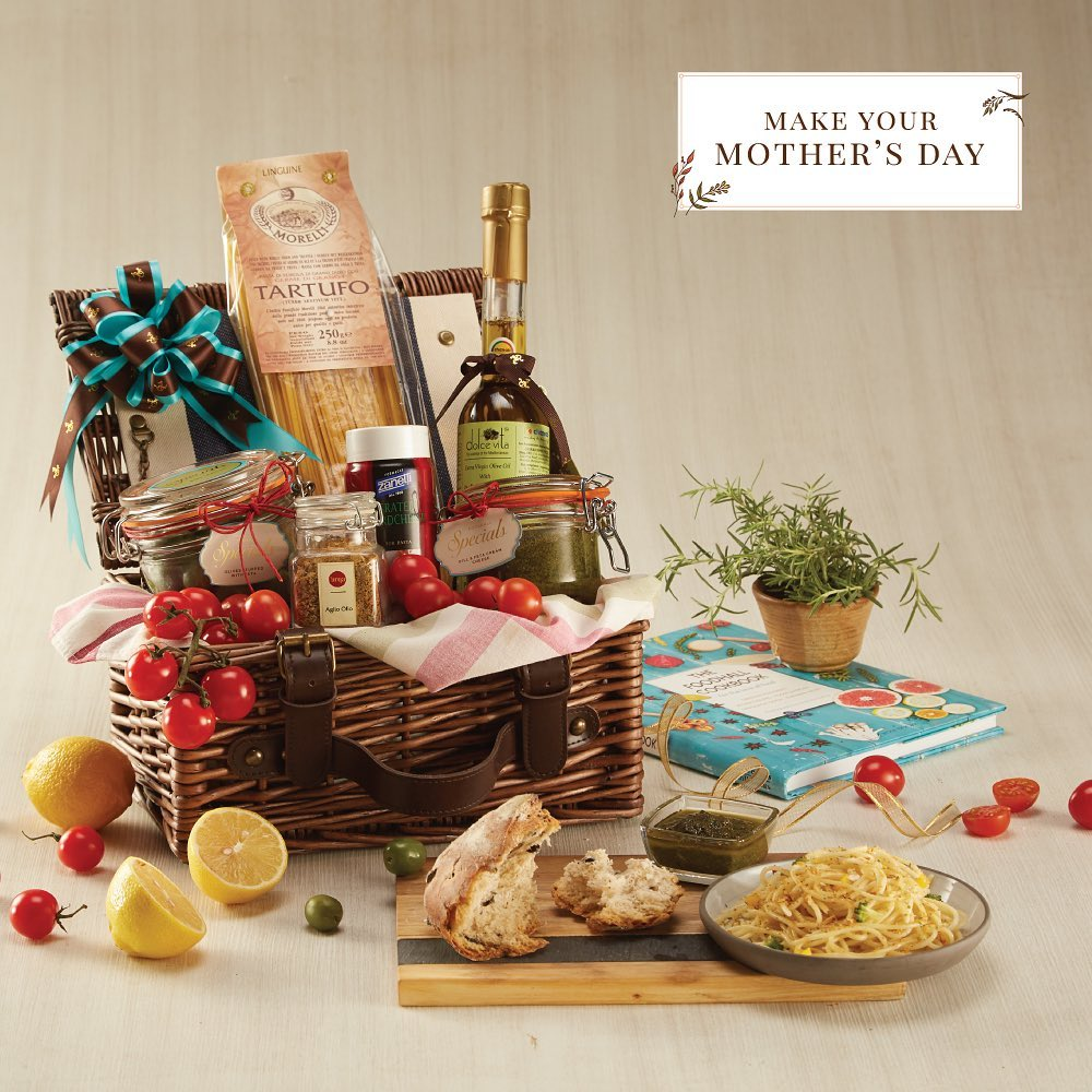 Wondering what to gift your pasta-loving mama for Mother's Day? Give her the romance of the Italian kitchen with our Mother's Day hamper bursting with olives, pastas and more curated by Blue Ribbon, gifting by Foodhall. Visit a Foodhall store near you today.  #mothersday #mothersdaygift #gifthampers #fortheloveoffood #foodhallindia