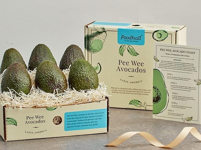 Introducing our Avocado Gift Boxes, perfect for fellow foodies among your friends and family! Each box opens to reveal either Pee Wee or Hass avocados, a zesty guacamole spice-mix from Arqa and a recipe card. We couldn't think of a more uplifting gift to give (or to receive!) Stop by your nearest Foodhall today or call us on 809 503 1111 to have it delivered to your doorstep.  #FortheLoveOfFood #ForTheLoveOfAvocados #Gifting #AvocadoLovers #GiftInspiration