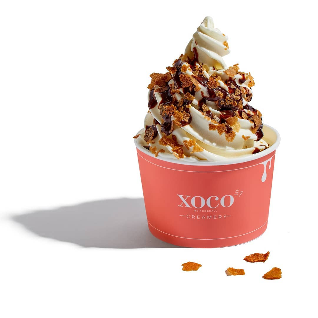 The ultimate treat for idle hands this weekend: our very own XOCO Soft Serve.  Choose your softie flavor and customise the creamy swirls with your favourite sauces and toppings from Nutella and peanut butter, to speculoos and French crêpe crisps!  #FoodhallIndia #ForTheLoveofIceCream #SoftServe #Softie #IceCreamTime #IceCreamLover