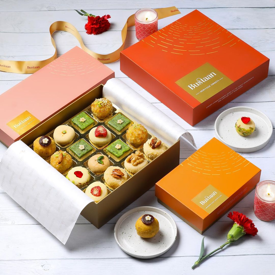 It's the season for sweet treats and we have plenty to indulge you with Bustaan's new collection of festive mithai!  From Candied Rose Sandesh to Matcha Barfi – visit Foodhall @MKT (New Delhi), to discover the sumptuous selection featuring a creative lift to traditional favourites. We even have the likes of Multigrain Halwa and Keto Coconut Barfi on the menu as healthy alternatives for more virtuous gifting!  #ForTheLoveofMithai #FoodhallIndia #Bustaan #Mithai #Diwali #Navratri #FestiveSeason #Gifting #FestiveGifting #Barfi #Sandesh #HealthySweets #IndianSweets
