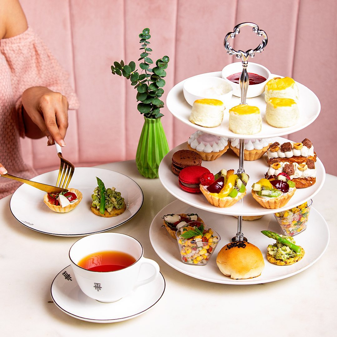 Introducing our new #AfternoonTea menu at @thtbyfoodhall.  Replete with freshly-baked scones (slathered with clotted cream and jam of course!), luxurious savouries, macarons, éclairs and more tea-time fancies crafted by our French chef Benoit Vidal – the exquisite experience is as decadent as it is relaxing!  Visit our inviting salons @ Vama & @ Linking Road, to rediscover the joy of this timeless tradition.  #ForTheLoveofTea #THTbyFoodhall #FoodhallIndia #THTSalon #AfternoonTea #TeaLovers #TeaTime #HighTea #FoodTalkIndia #MumbaiFoodie #ThingstodoinMumbai
