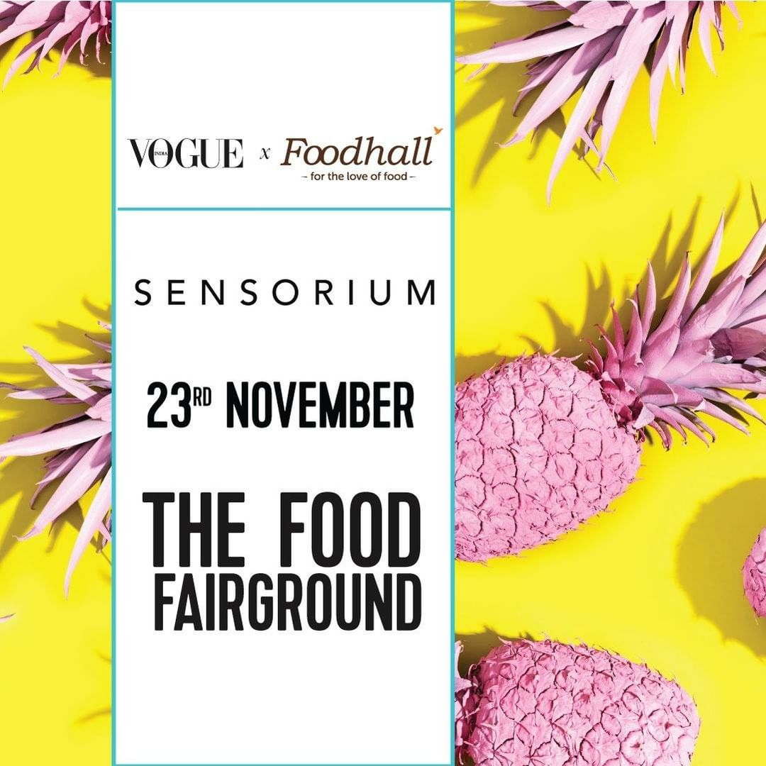 "Save the date. @vogueindia & #FoodhallIndia are coming together for a unique collaboration, ""Sensorium""  An immersive celebration of the best of food, restaurants and sensory experiences - the day-long event will be led by pop-ups, installations, masterclasses and curated menus by the city's leading chefs and so much more! Watch this space as we reveal more details.  When: Saturday, 23rd November 2019 