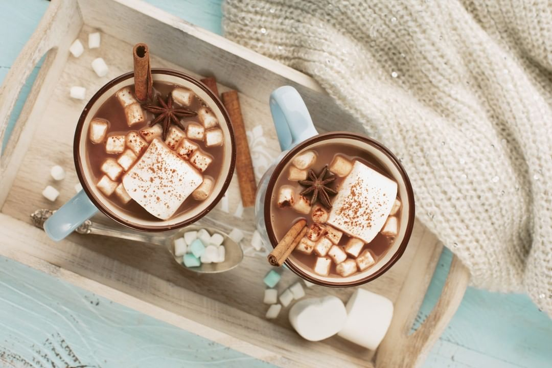 "What's sweater weather without an excuse to celebrate #NationalHotChocolate Day!  Swing by a Foodhall near you for our artisanal cocoa from Xoco 57, lifted by a pop of craveable toppings including our pillowy home-made marshmallows. We even have a #vegan-friendly ""Skinny"" version for those treading on a healthier track!  #ForTheLoveofHotChocolate #FoodhallIndia #HotChocolate #Cocoa #ChocolateLovers #WinterWarmer #WinterDrinks #HotChocolateTime"