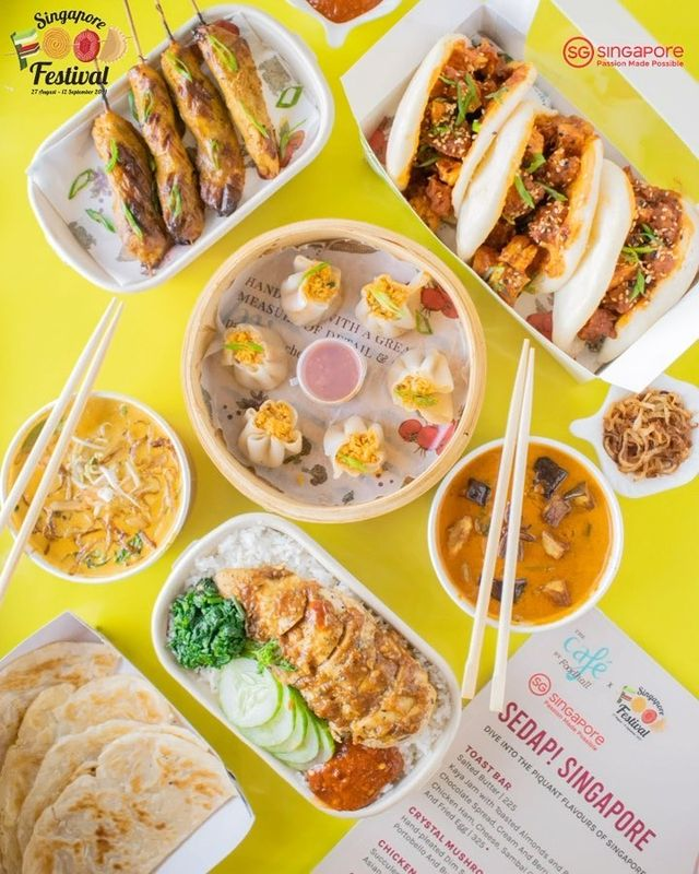 Try a little, taste a lot 🍜  Have you explored our Singapore-inspired cafe menu yet? From the Sam-Baos to the signature Hainanese Chicken Rice, there's something sweet, something savoury, and something spicy for everyone.  And, don't forget to try the winning recipe by @rummyskitchen from our contest earlier this month and show her some love!  Our menu is also available on @swiggyindia and @zomato, and for direct delivery by calling 8095031111  @visit_singapore #PassionMadePossible #SingaporeFoodFestival