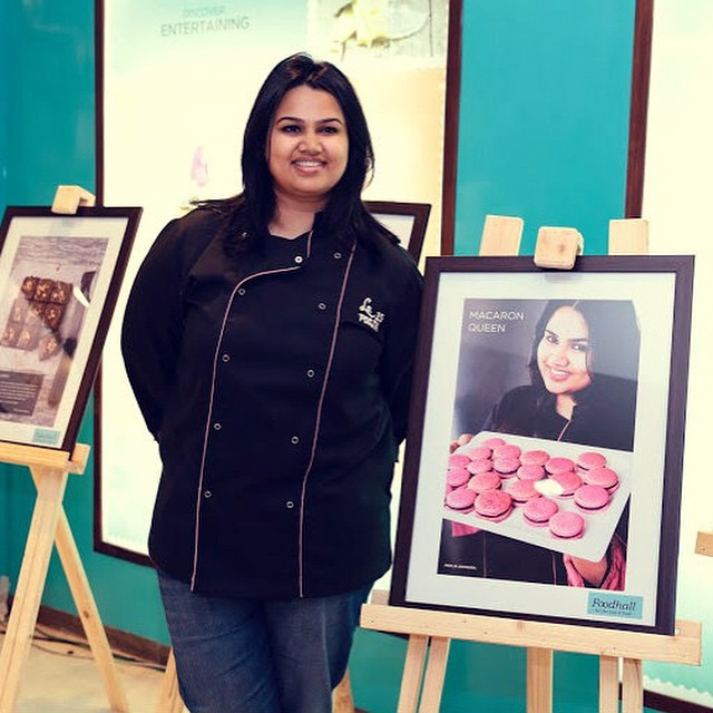 #PartyInStyle Macaron Queen @poojadhingra lets you in on her culinary journey! Check out her exclusive Photo exhibit all this week, only at Foodhall @ DLF Place, Saket. #FoodhallIndia #PartyChef #MacaronQueen #instalike #instagood #MasterChef #bestoftheday #PastryChef #Food #Dessert #ThingsWeLove #Photo #Exhibit #CulinaryJourney