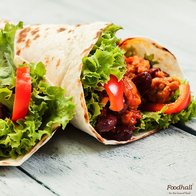 #WrappedAndRolled: This super healthy burrito packed with meat, beans and salsa will have you clamoring for more! #FoodhallIndia #MexicanFiesta #instalike #burrito #JourneyThroughMexico #Instagood #food #yummy #delicious #bestoftheday #healthy #ThingsWeLove #OlaCantina #FoodhallFest