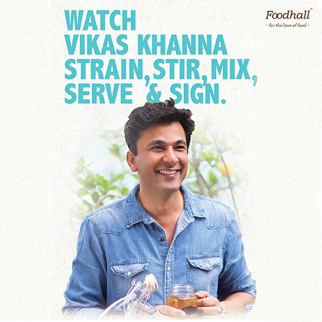 Come  join us as Award Winning Michelin Star Chef Vikas Khanna launches his new book 'Shaken & Stirred' at Foodhall @ 1MG Road, Bangalore! See him stir up a few concoctions from his book, live on the 25th April from 6pm-8pm. #FoodhallIndia #MasterChef #Event #Bangalore #Shaken&Stirred #BookLaunch #instagood #instalike #bestoftheday #follow #tagsforlikes