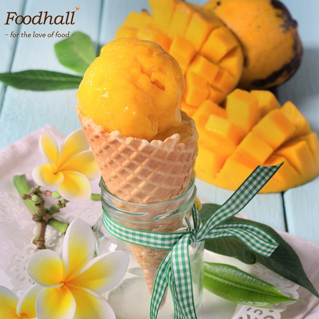 We're getting a burst of Summer Sweetness at our stores! Come and buy our Freshly baked waffle cones from Foodhall Today. #FoodhallIndia #TasteOfSummer #SummerSweetness #Waffles
