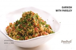 This simple and delicious recipe is sure to head your list of fresh favourites this summer. Perfect for a light lunch or an accompaniment at dinner, it gets bonus points for being vegan, gluten-free and coming together in less than 20 minutes! Weekday cooking has never been easier!  #fortheloveoffood #foodhallindia #recipe #salad #summerspecial #FHrecipe #greens #healthy #vegan