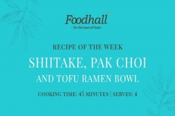 #RecipeoftheWeek: Shiitake, Pak Choi and Tofu Ramen Bowl. We don't know about you but just the thought of #ramen on a rainy evening is enough to warm the cockles of our heart!  This particular #recipe relies on shiitake mushrooms to add an earthy foundation to an action-packed #vegetarian dish, balanced by leafy greens (pak choi) and a protein boost of tofu. Quick to rustle up and easier still, to slurp your way through!  #VegetarianRecipe #Ramen #RamenBowl #ForTheLoveOfFood #FoodhallIndia #ComfortFood