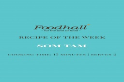 #RecipeOfTheWeek: Thai Papaya Salad  Some like it hot! This week's featured recipe is a craveably-crunchy classic from Thailand. Sharply-textured, effortlessly whip up this pounded street-style salad as a sweet yet spicy salut to South-East Asian kitchens!  #ForTheLoveofThaiFood #FoodhallIndia #ThaiSalad #SomTam #ThaiTradeCommission #RecipeShare #VegetarianRecipes #RecipeInspiration #ThaiRecipes #SomTamRecipe #ThaiPapayaSaladRecipe